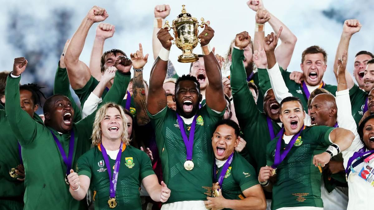 Südafrika holte im Finale gegen England zum dritten Mal den WM-Titel im Rugby