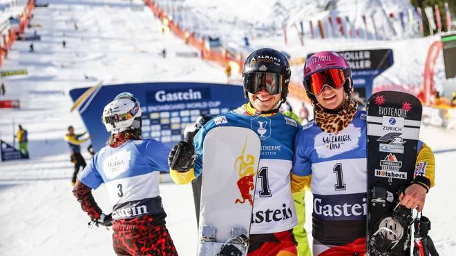 Stefan Baumeister und Ramona Hofmeister posieren für das Siegerfoto
