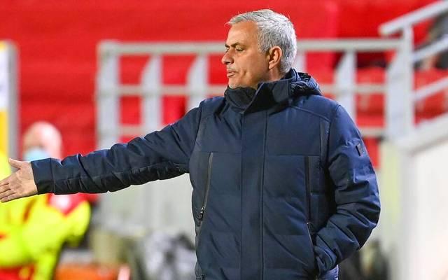 Jose Mourinho kassierte mit Tottenham Hotspur eine unerwartete Niederlage