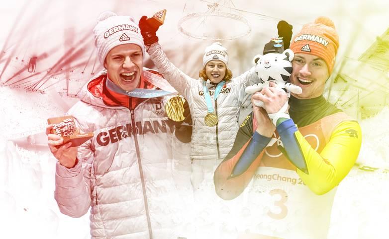 Die deutschen Olympia-Athleten sammelten in Pyeongchang fleißig Medaillen. SPORT1 zeigt die deutschen Medaillengewinner