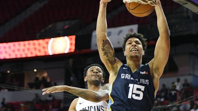 Brandon Clarke (r.) führte die Grizzlies zum Sieg gegen die Pelicans