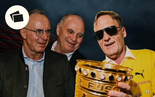Karl-Heinz Rummenigge (l.) und Hans-Joachim Watzke (r.) liefern sich immer wieder verbale Mätzchen