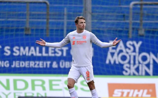 Fiete Arp traf spät für den FC Bayern gegen Unterhaching