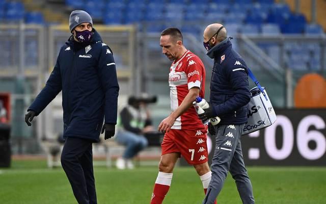 Franck Ribéry verletzte sich am Mittwoch