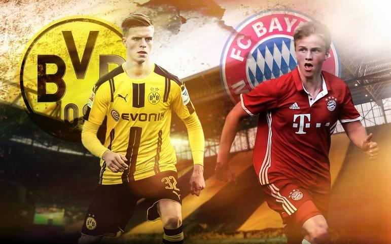 Dortmund gegen Bayern - in der Bundesliga ein Klassiker, und auch bei den Junioren sorgt das Duell BVB gegen FCB für große Vorfreude. Im Finale um die Meisterschaft in der U19-Bundesliga (ab 19.25 Uhr LIVE im TV auf SPORT1) fordern die Bayern-Youngster in Dortmund den BVB