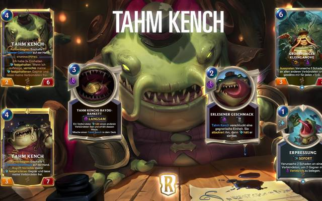 """Tham Kench ist der erste Champion, der mit der neuen Legends of Runeterra Erweiterung """"Monumente der Macht"""" erscheinen wird"""