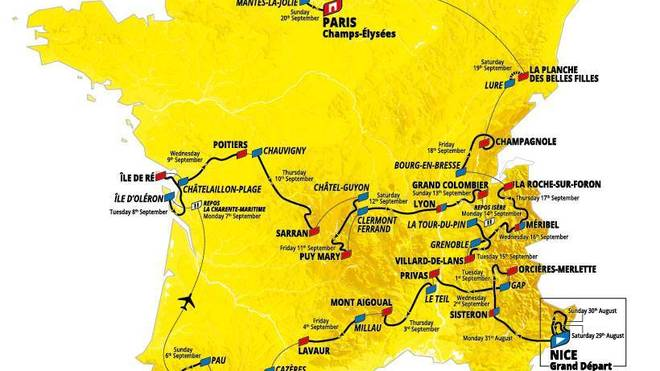 Tour de France 2019: Die Streckenprofile der 21 Etappen