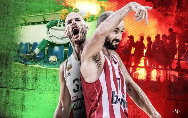 Die Rivalität zwischen Panathinaikos Athen und Olympiakos Piräus ist riesig
