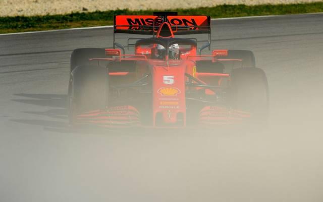 Sebastian Vettel und Ferrari haben bei den Tests große Probleme