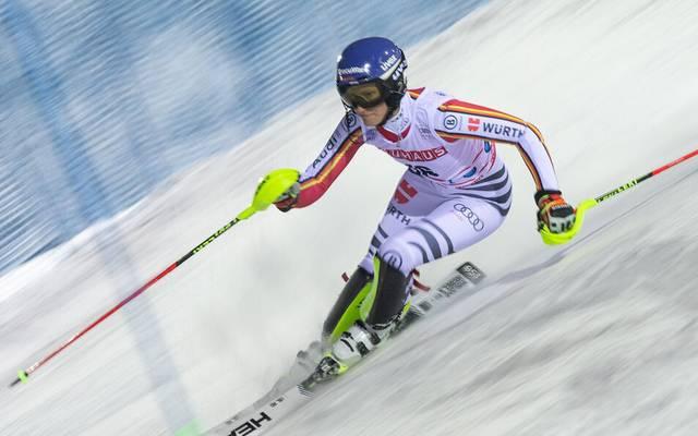 Lena Dürr beim Slalom in Levi im Jahr 2019