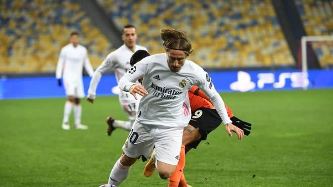 Luka Modric droht mit Real Madrid das Vorrunden-Aus in der Champions League