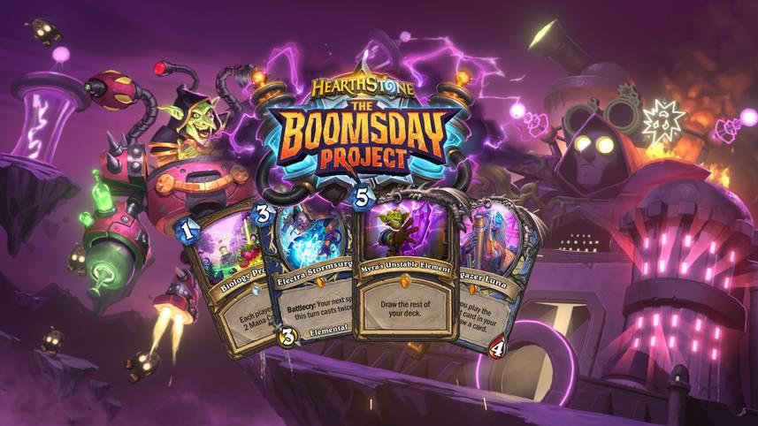 """Mit """"The Boomsday Project"""" kommt im August eine neue Hearthstone-Expansion. Die Expansion dreht sich rund um den Charakter Dr.Boom und enthält 135 neue Karten!"""