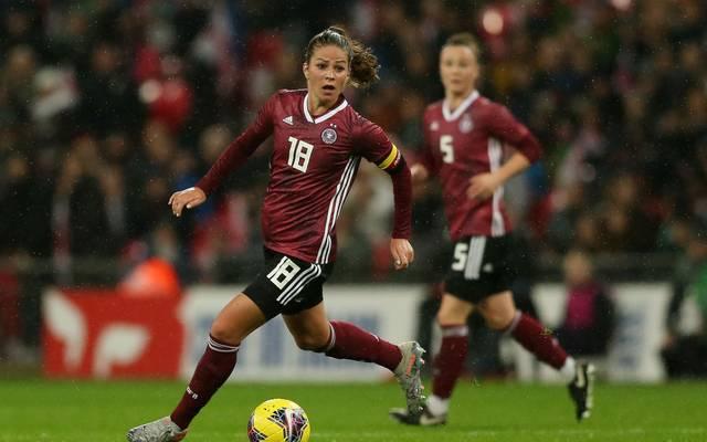 Melanie Leupolz spielt seit 2013 für die Deutsche Nationalmannschaft