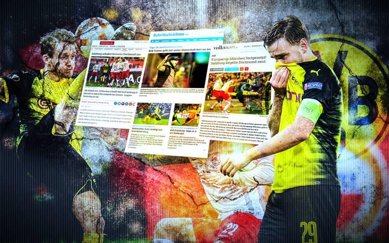 Nach dem Aus in der UEFA Europa League erntet Borussia Dortmund in den Medien heftige Kritik. Österreich feiert den FC Salzburg. SPORT1 zeigt Pressestimmen