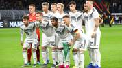 DORTMUND, GERMANY - OCTOBER 09: Germany line up prior to the International Friendly between Germany and Argentina at Signal Iduna Park on October 09, 2019 in Dortmund, Germany. (Photo by Dean Mouhtaropoulos/Bongarts/Getty Images)
