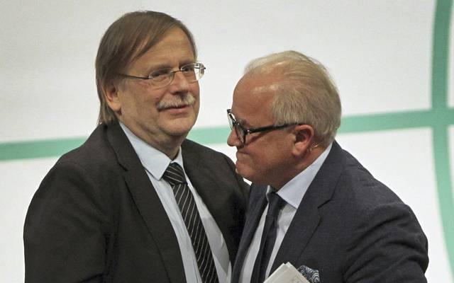 Fritz Keller (r.) und Rainer Koch wollen Lockerung im Amateurfußball
