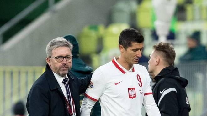Robert Lewandowski musste gegen Italien vorzeitig vom Feld