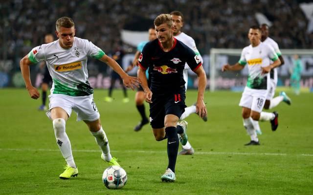 Kann Timo Werner (Mitte) gegen Borussia Mönchengladbach wieder treffen?