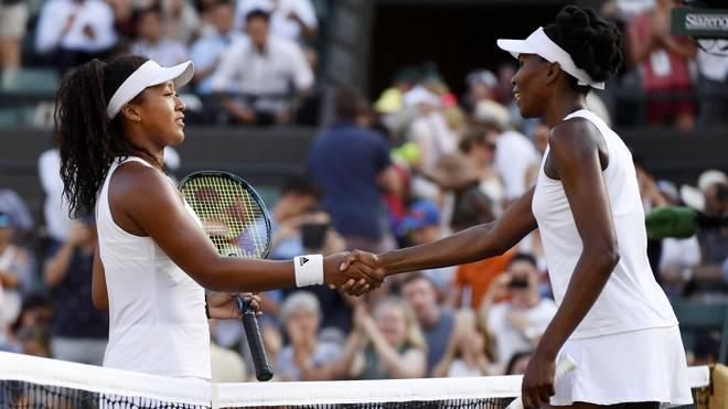 Naomi Osaka (l.) und Venus Williams werden an dem Turnier in New York teilnehmen