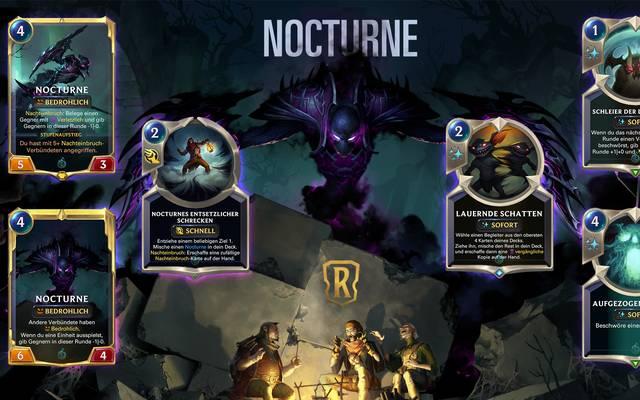 Nocturne ist der vierte Champion, der mit der neuen Legends-of-Runeterra-Erweiterung erscheinen wird