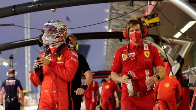 Sebastian Vettel (l.) bestreitet in Abu Dhabi sein letztes Rennen für Ferrari