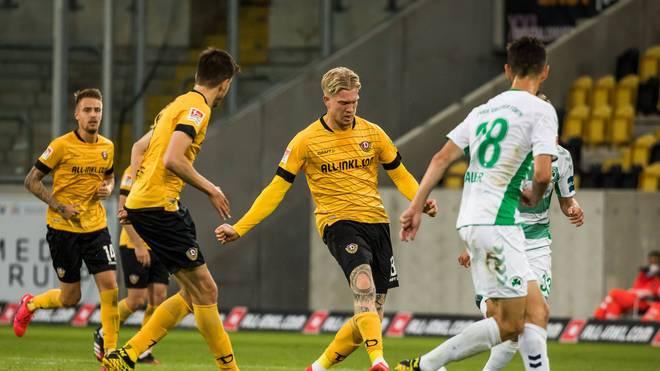 Simon Makienok erzielte den Ausgleich für Dynamo Dresden