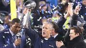 Wer reckt im Februar 2015 die Vince Lombardy Trophäe in den Himmel? Beim Super Bowl XLVIII in New York triumphieren die Seattle Seahawks. Für Ausgabe 49 des Mega-Events ist die Liste der Anwärter wieder lang, der Kampf um die Krone wird knallhart. Welche Teams die besten Trümpfe in der Hand haben, zeigt SPORT1