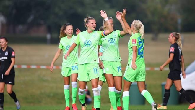 Die Wolfsburger Frauen hatten in letzter Zeit viel Grund zu jubeln