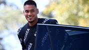 France's goalkeeper Alphonse Areola arrives at the French national football team training base in Clairefontaine-en-Yvelines on September 2, 2019, as part of the team's preparation for the upcoming qualification Euro-2020 football matches. (Photo by FRANCK FIFE / AFP)        (Photo credit should read FRANCK FIFE/AFP/Getty Images)