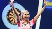 LONDON, ENGLAND - DECEMBER 27: Fallon Sherrock of England acknowledges the crowd after defeat in her third round match against Chris Dobey of England on Day 12 of the 2020 William Hill World Darts Championship at Alexandra Palace on December 27, 2019 in London, England. (Photo by Jordan Mansfield/Getty Images)