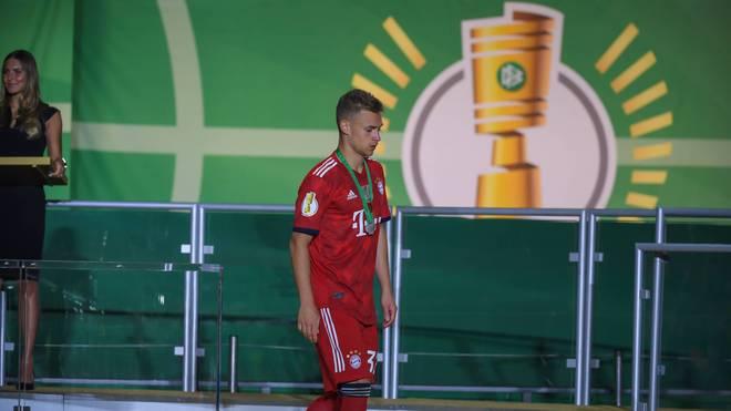 Joshua Kimmich verlor mit dem FC Bayern das Pokalfinale 2018 gegen Eintracht Frankfurt