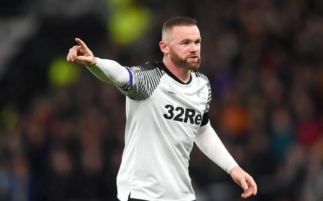 Wayne Rooney ist als Spielertrainer von Derby County aktiv