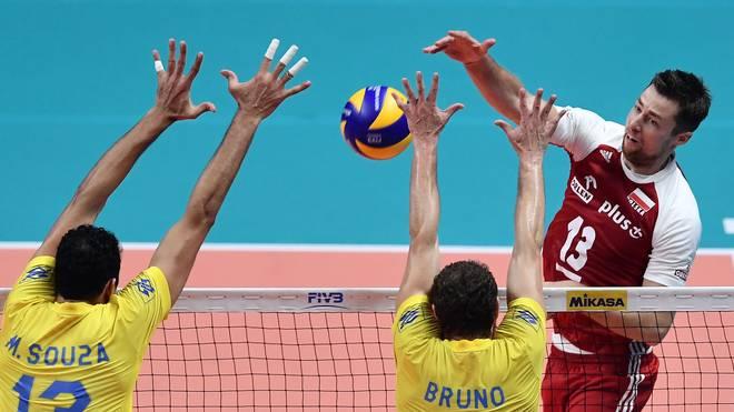 Polen um Angreifer Michal Kubiak (r.) ließ Brasilien im Finale keine Chance