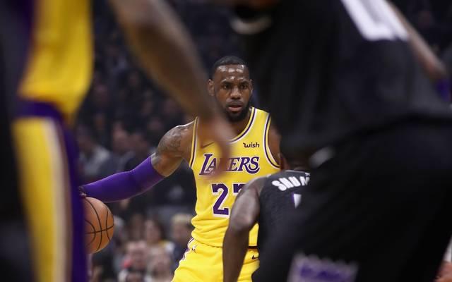LeBron James kam bei den Sacramento Kings auf 25 Punkte