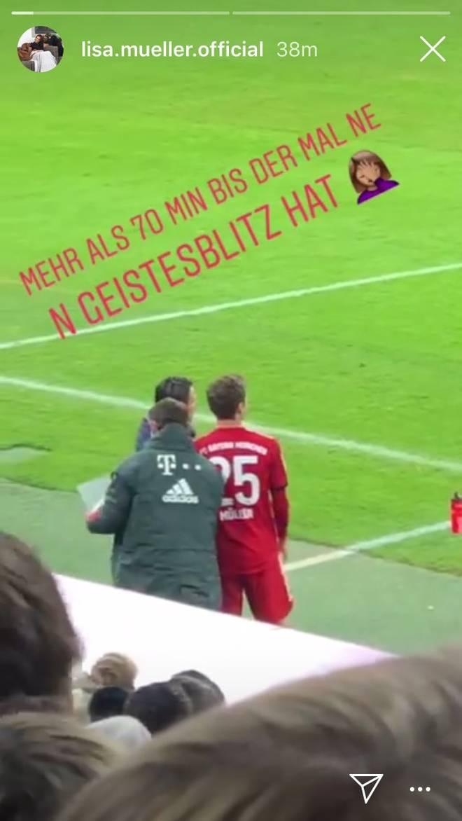 Lisa Müller war mit der Aufstellung von Niko Kovac offenbar nicht zufrieden