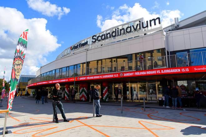 In der Multifunktionsarena Scandinavium findet das CHL-Finale zwischen München und Frölunda statt