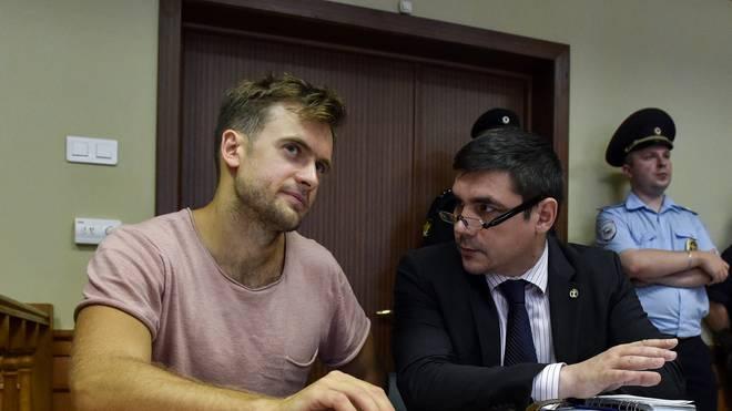 WM-Finale in Moskau: Pussy-Riot-Mitglied Pjotr Wersilow angeblich vergiftet, Pussy-Riot-Aktivist Pjotr Wersilow stürmte während des WM-Finales aufs Spielfeld
