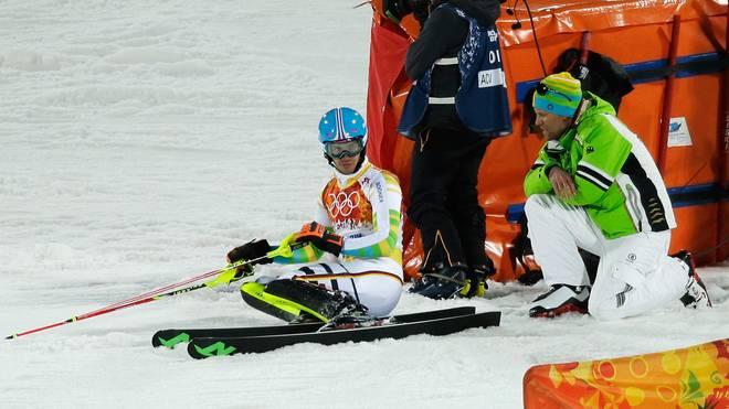 Felix Neureuther scheidet auch beim Olympia-Slalom 2014 aus