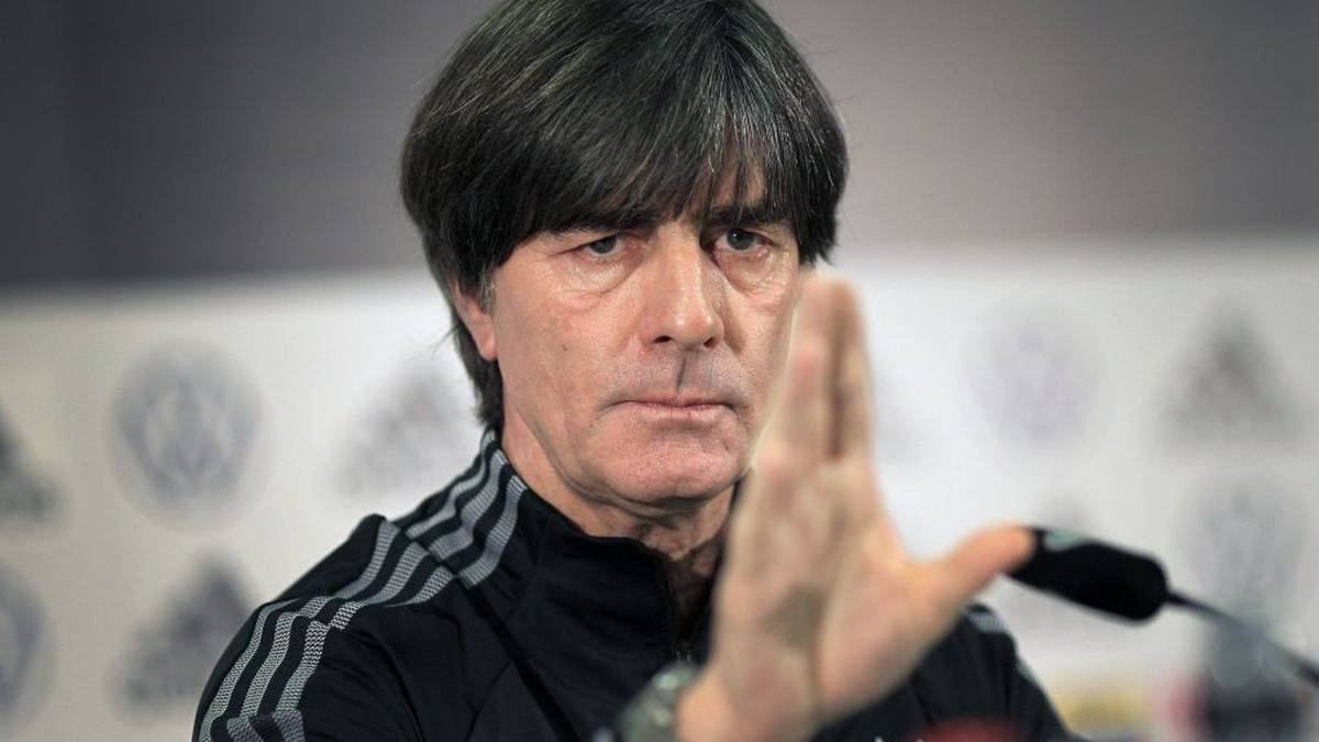 German national football team head coach Joachim Loew speaks during a press conference on the eve of the UEFA Euro 2020 Group C qualification first round day 10 football match between Germany and Northern Ireland, on November 18, 2019 in Frankfurt am Main. (Photo by Daniel ROLAND / AFP) (Photo by DANIEL ROLAND/AFP via Getty Images)