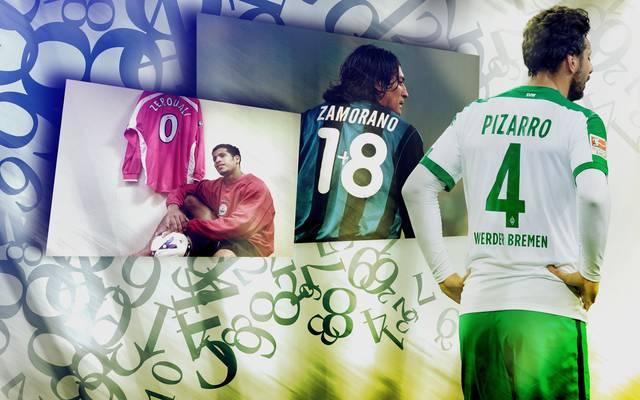 Vor Eden Hazard gab es schon viele kuriose Trikotnummern - nicht nur die 4 von Claudio Pizarro