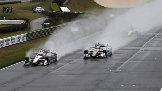 Schlag ins Wasser: Das IndyCar-Rennen bestand effektiv nur aus elf Runden