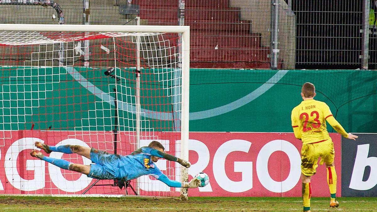 Jannes Horn vergab im Elfmeterschießen für den 1. FC Köln