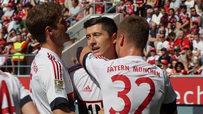 Robert Lewandowski erzielte in Ingolstadt zwei Treffer