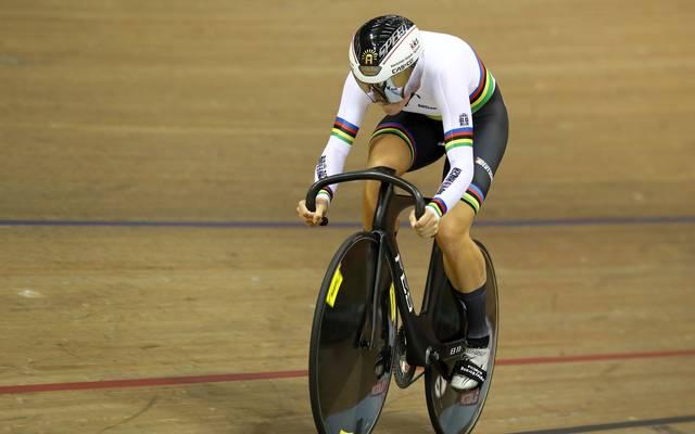 Miriam Welte (Bild) und Emma Hinze kämpfen bei der Bahnrad-WM um Bronze