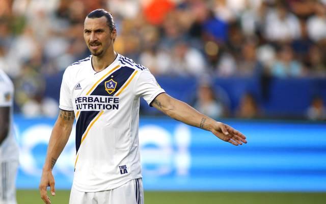 Zlatan Ibrahimovic steht aktuell bei Los Angeles Galaxy unter Vertrag