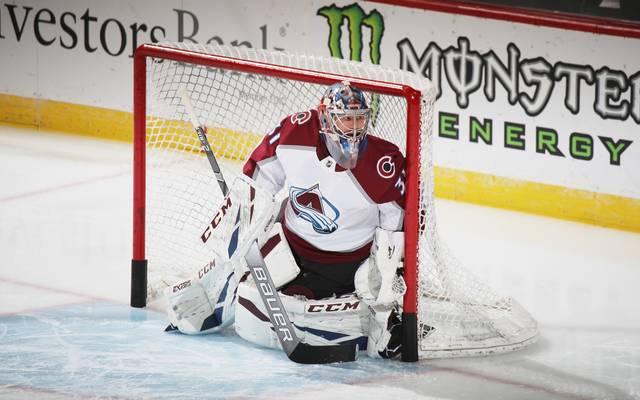 Philipp Grubauer ist der große Rückhalt der Colorado Avalanche in den Playoffs der NHL