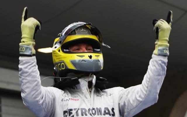 In China feiert Rosberg seinen ersten von insgesamt 23 GP-Siegen