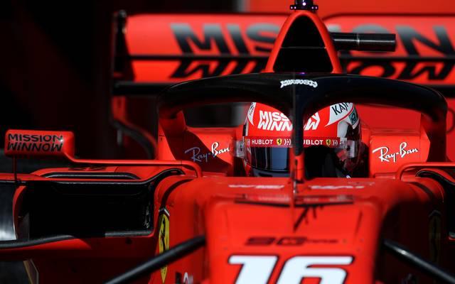 Das umstrittene Logo prangte zum Beispiel am Heckflügel der Ferrari-Boliden