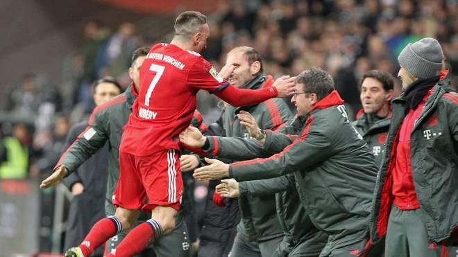 Franck Ribery glänzte gegen Eintracht Frankfurt mit zwei Toren