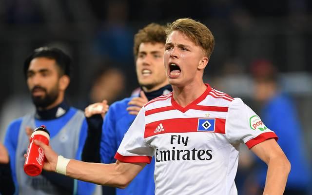 Jann-Fiete Arp fehlt dem Hamburger SV im Duell gegen den VfL Wolfsburg